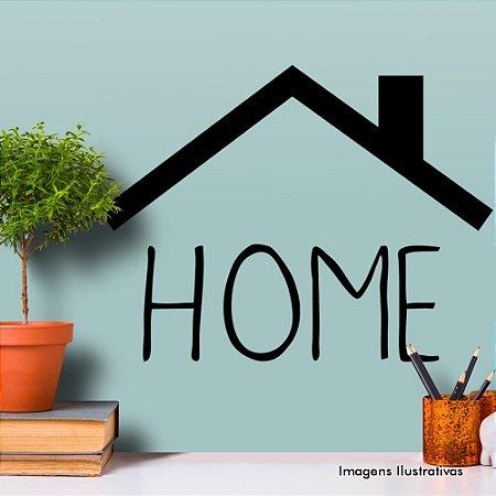 """Adesivo de Parede Frases 'Home"""""""