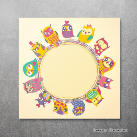 Quadro Infantil Circulo de Pássaros