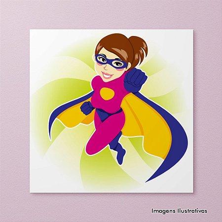 Quadro Decorativo Infantil Super Heroína