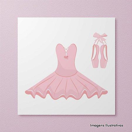 Quadro Decorativo Infantil Roupa de Bailarina