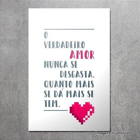 Quadro Decorativo Frases O Verdadeiro Amor Papel De Parede