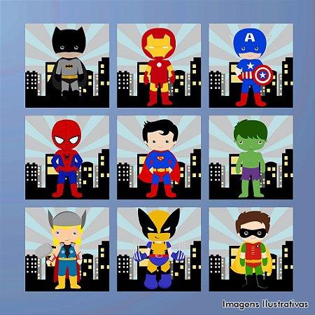 Kit de Quadros Infantil Super Heróis 3