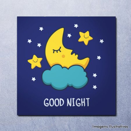 Quadro Decorativo Infantil Boa Noite - Good Night
