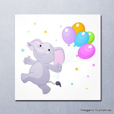 Quadro Decorativo Infantil Elefantinho