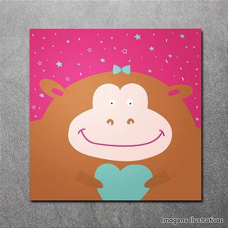 Quadro Decorativo Infantil Macaco