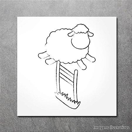 Quadro Infantil Ovelha Branca