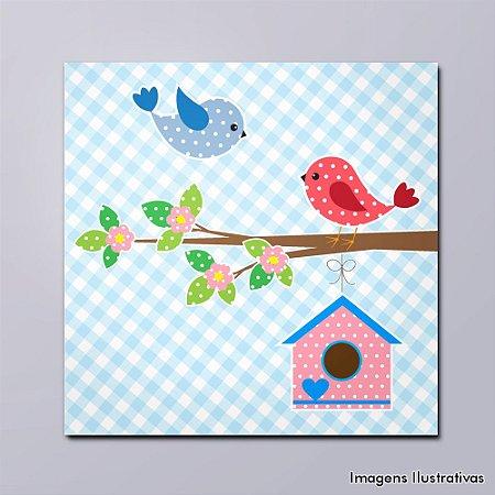 Quadro Decorativo Infantil Passarinhos