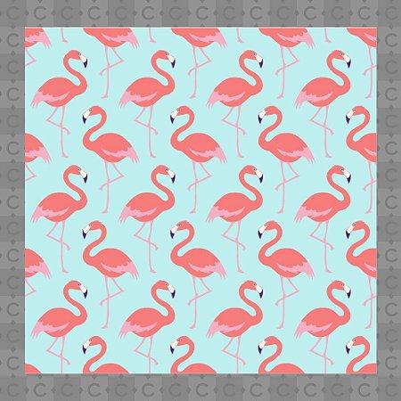Papel de Parede Infantil Flamingo Rosa e Azul Texturizado Autocolante
