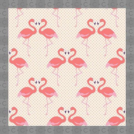 Papel de Parede Infantil Flamingo Rosa Texturizado Autocolante