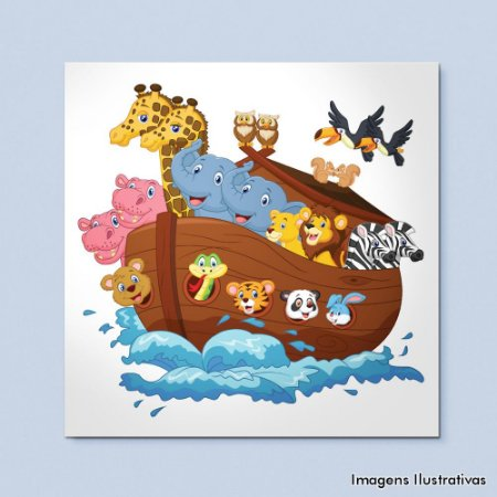 Quadro Decorativo Infantil A Arca de Noé