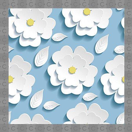 Papel de Parede Infantil Floral Margarida Texturizado Autocolante
