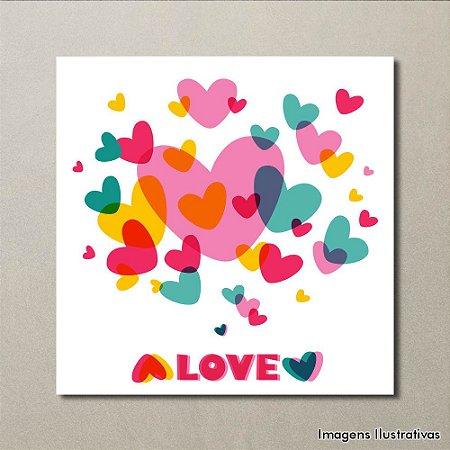 Quadro Decorativo Love Colorido