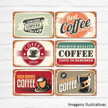 Kit de Quadros Decorativo Vintage Café
