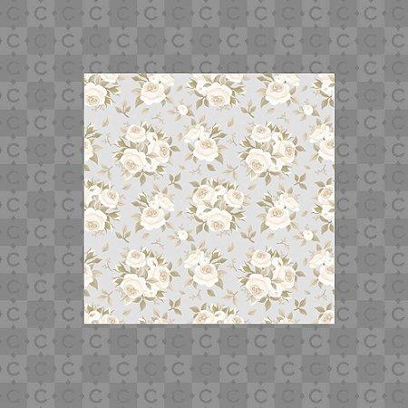 Papel de Parede Infantil Floral Lilas 2 Texturizado Autocolante