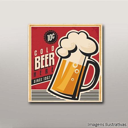 Quadro Decorativo Beer Vintage
