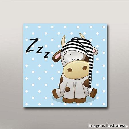 Quadro Decorativo Infantil Vaca Zzz