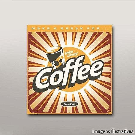 Quadro Decorativo Vintage Take Away Coffee