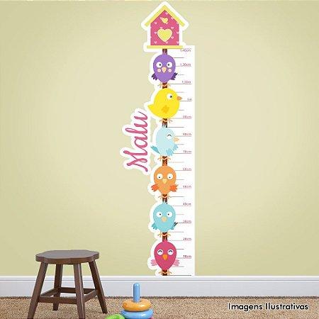 Adesivo de Parede Infantil Casa e Passarinhos Mede Altura