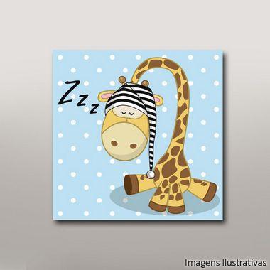 Quadro Infantil Girafa zzz