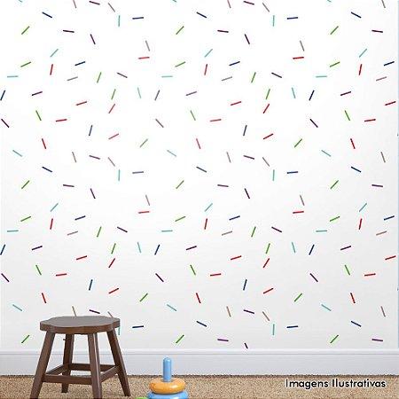 Papel de Parede Infantil Confete Texturizado Autocolante