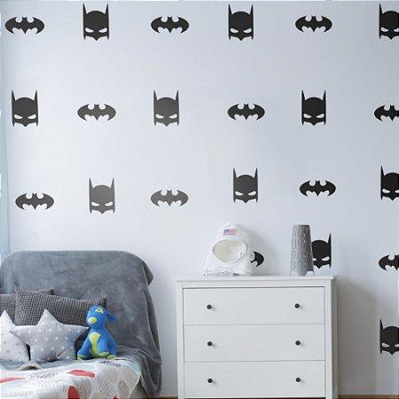 Adesivo de Parede Infantil Batman - Cartela Com 30 Unidades