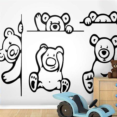 Painel de Parede Para Quarto Infantil Ursinhos