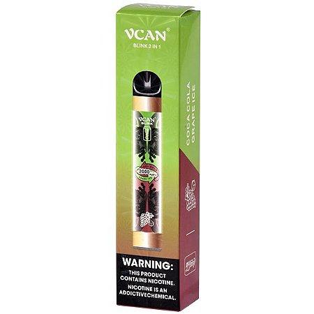 Pod Descartável VCan 2 em 1 - Coca Cola x Grape Ice (2000 Puffs)