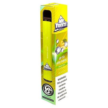 Pod Descartável Mr Freeze 650 Puffs - Banana Frost