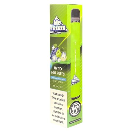 Pod Descartável Mr Freeze 650 Puffs - Green Apple Grape Frost