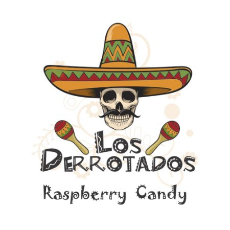 Juice Los Derrotados - Raspberry Candy (30ml/0mg)