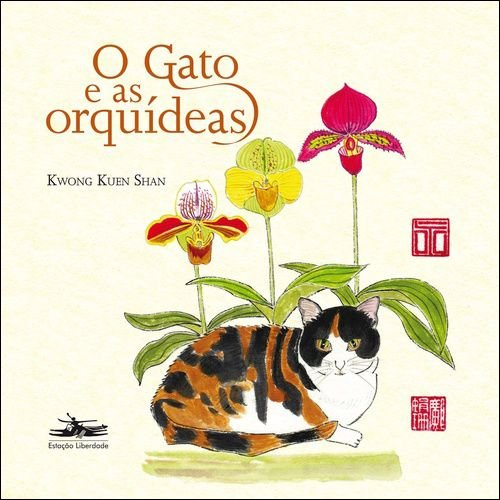 O gato e as orquídeas