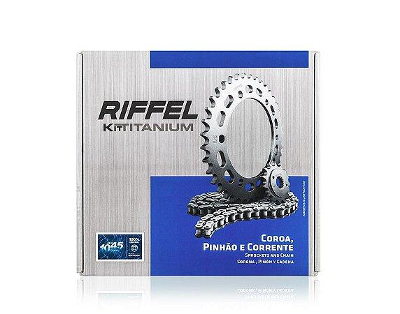 KIT RELAÇÃO CBX 250 TWISTER 01-09 RIFFEL