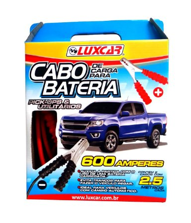 CABO DE CARGA PARA BATERIA 2,5M 600 AMPERES LUXCAR