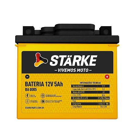 BATERIA DE MOTO 12V 5AH BIZ 125 / TITAN 125 / TITAN 150 STARKE