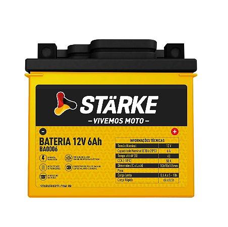 BATERIA DE MOTO BIZ 125 / FAN 125 / TITAN 150 12V 6AH STARKE