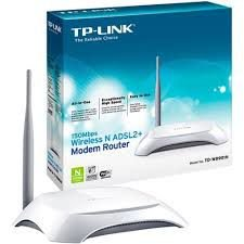 MODEM ROTEADOR TPLINK WIRELESS N ADSL2+ 150MBPS 4P RJ45 1P RJ11 TD-W8901N