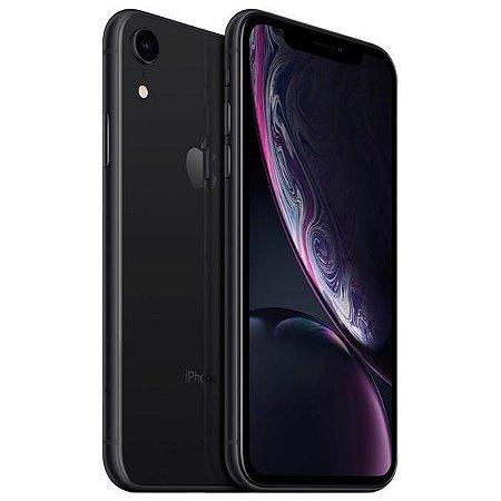 """Apple iPhone XR 128GB Tela Liquid Retina 6.1"""" 12MP/7MP iOS - Preto - Lacrado na caixa - 1 Ano de Garantia Apple."""