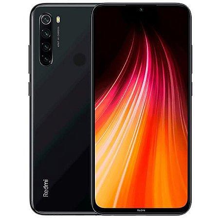 """Smartphone Xiaomi Redmi Note 8 Dual SIM 64GB Versão Global 6.3"""" 48+8+2+2MP/13MP OS 9.0 - Space Black - Lacrado na Caixa."""