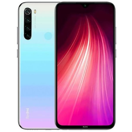 "Xiaomi Smartphone Redmi Note 8 Dual SIM 64GB Versão Global 6.3"" 48+8+2+2MP/13MP OS 9.0 - Moonlight White - Lacrado na caixa."