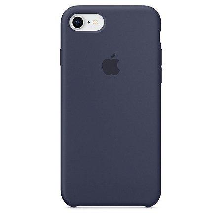 Capa de silicone para iPhone 8 / 7 - Azul meia-noite