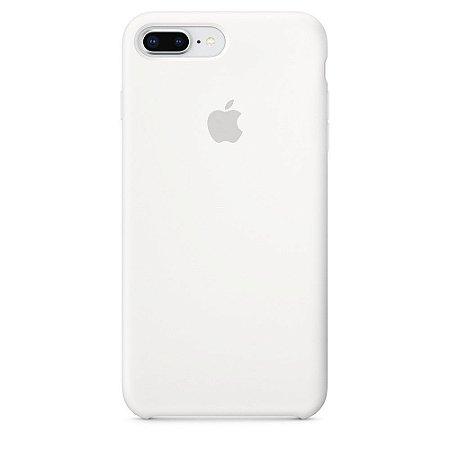 Capa de silicone para iPhone 8 Plus / 7 Plus - Branca