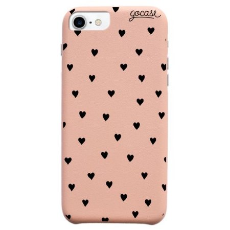 Capinha gocase para celular Fascino - Black Hearts - IPhone 7/8