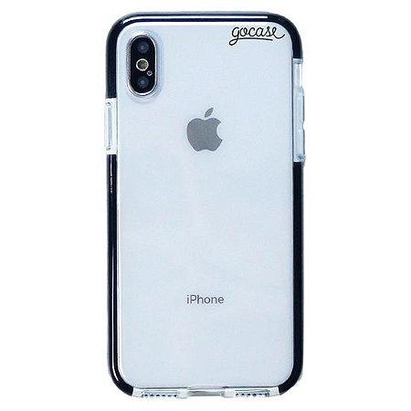 Capinha gocase para celular Anti-Impacto PRO - Clear Logo Black - IPhone XS MAX