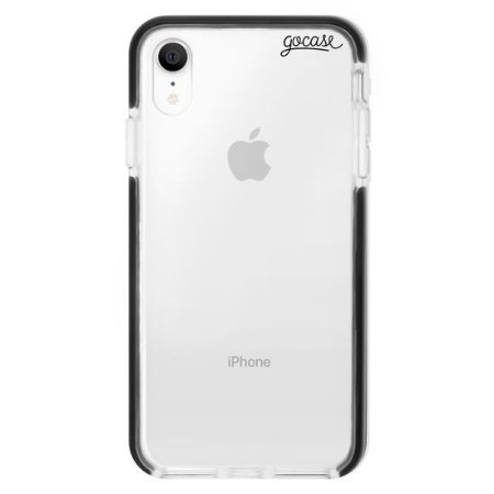 Capinha gocase para celular Anti-Impacto PRO - Clear Logo Black - IPhone 7/8
