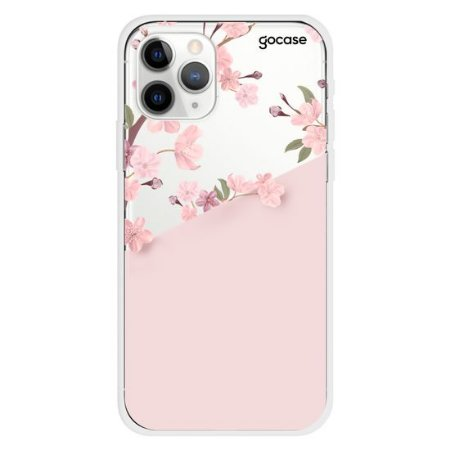 Capinha gocase para celular Classical Rosé Inicial Glitter - IPhone 11 PRO MAX