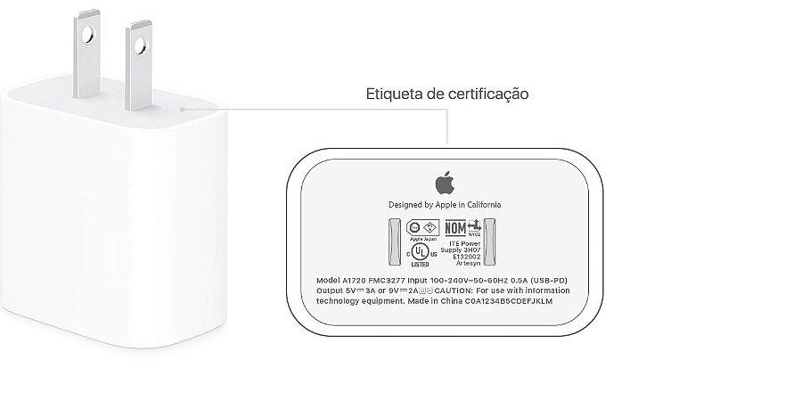 Apple Fonte Carregador USB-C - 18W - Original
