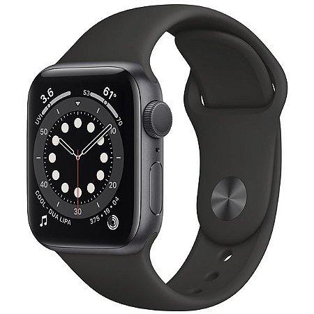 Apple Watch SE 40 mm A2351 MYDP2LL / A GPS - Grey Aluminum\Black - Novo Lacrado na Caixa - 1 Ano de Garantia Apple