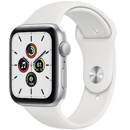 Apple Watch SE 44 mm A2352 MYDQ2LL / A GPS - Silver Aluminum\White - Original Lacrado na Caixa - 1 Ano de Garantia Apple
