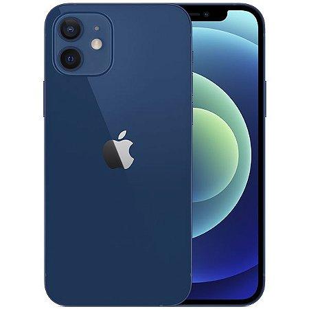 "Apple iPhone 12 A2172 64GB Super Retina XDR de 6.1"" Dual de 12MP / 12MP iOS - Azul - Original Lacrado na Caixa - 1 Ano de Garantia Apple"