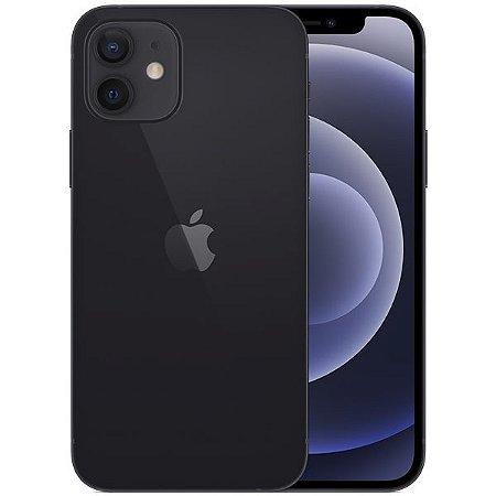 """Apple iPhone 12 A2172 64GB Super Retina XDR de 6.1"""" Dual de 12MP / 12MP iOS - Preto - Original Lacrado na Caixa - 1 Ano de Garantia Apple"""